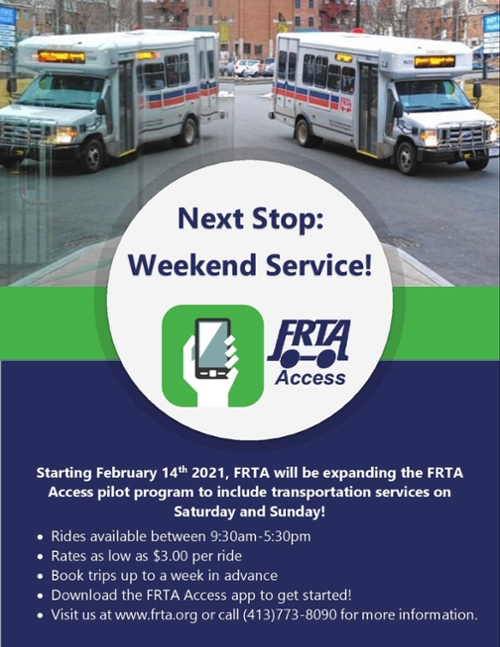Weekend Service with the FRTA